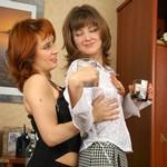 Lesbians Drill Asses